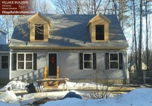 Second Story home addition project Gorham Maine. Making a ranch into a cape house. After