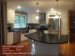 Interior Kitchen Custom Home Built By Village Builders Gorham Maine