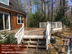 New deck on home in Gorham Maine